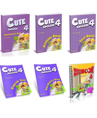 Cute English 4. Sınıflar İçin Kampanya (6 Kitap) resmi
