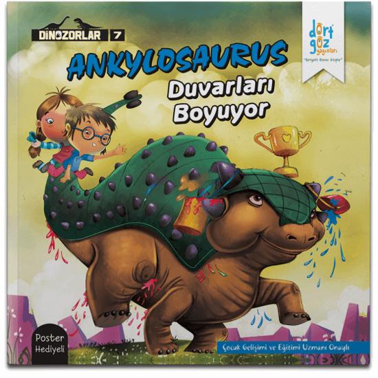 Dinozorlar Ankylosaurus Duvarı Boyuyor