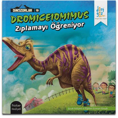 Dinozorlar Dromıceıomımusun Zıplamayı Öğreniyor resmi